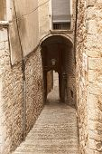 image of significant  - The narrow streets of the ancient quarter in Girona on July 17 2013 - JPG