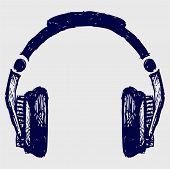 picture of ballpoint  - Headphones sketch - JPG