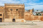 picture of fortified wall  - Fortified wall of Kasbah of the Udayas in Rabat Morocco - JPG