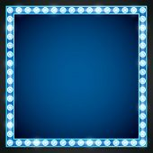 picture of light fixture  - Blue gold colored vector retro looks frame template - JPG