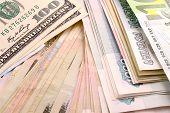 foto of american money  - european money - JPG