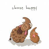 image of mammoth  - Choose happy - JPG
