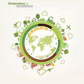 image of ecology  - world global ecology symbol concept environmental icons - JPG