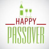 picture of passover  - illustration for Happy Passover in gray background  - JPG