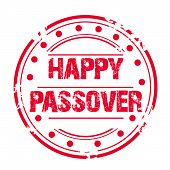 picture of passover  - illustration of a stamp for Happy Passover - JPG