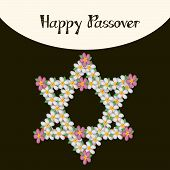 foto of passover  - illustration of Happy Passover in gray background - JPG