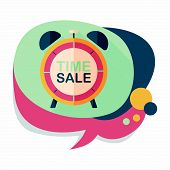 picture of year end sale  - Shopping Limit Sale Flat Icon With Long Shadow - JPG