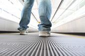 stock photo of elevators  - Walking on Escalators Moving way  - JPG
