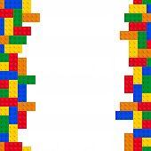 foto of brick block  - blocks or bricks game vector multi colored - JPG