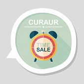 image of year end sale  - Shopping Limit Sale Flat Icon With Long Shadow - JPG