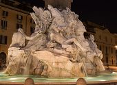 stock photo of fountains  - A fountain at Piazza Navona in Rome - JPG
