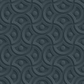 stock photo of paper cut out  - Dark gray 3D perforated paper with cut out effect - JPG