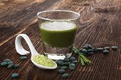 picture of chlorella  - Spirulina chlorella barley and wheatgrass - JPG