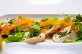picture of scallops  - Salad with scallops and shrimp - JPG