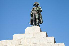foto of bonaparte  - Statue of Napoleon Bonaparte as First emperor of France Ajaccio island of Corsica - JPG
