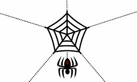 picture of black widow spider  - a drawing of a black widow spider and its web - JPG