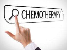 picture of chemotherapy  - Chemotherapy written in search bar on virtual screen - JPG