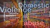 pic of domestic violence  - Concept diagram wordcloud illustration of domestic violence abuse glowing light - JPG