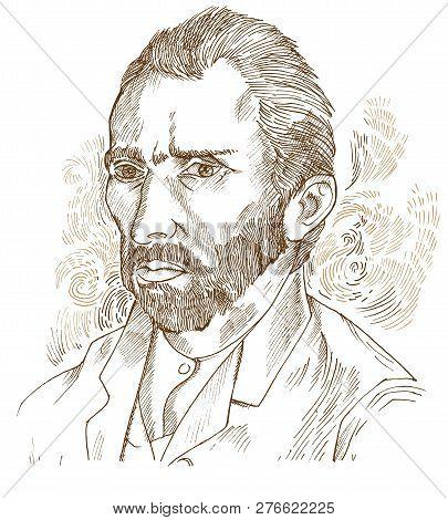 Hand Drawn Vector Portrait vincent