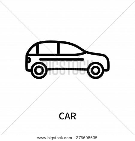 poster of Car Icon Isolated On White Background. Car Icon Simple Sign. Car Icon Trendy And Modern Symbol For G