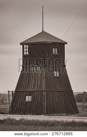 poster of Guard Tower In The Former Concentration Camp Majdanek, Lublin, Poland