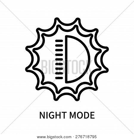 Night Mode Icon Isolated On