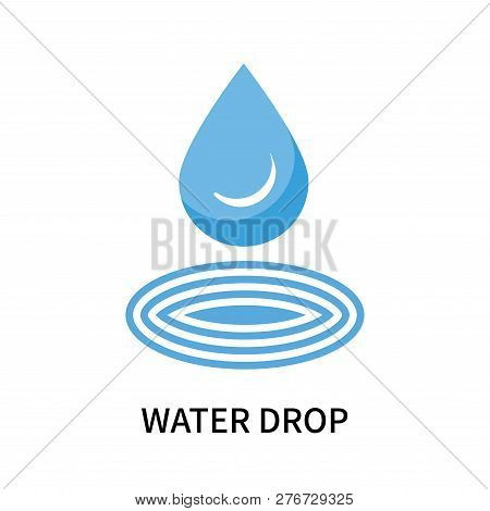 Water Drop Icon Isolated On
