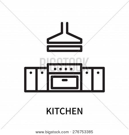 poster of Kitchen Icon Isolated On White Background. Kitchen Icon Simple Sign. Kitchen Icon Trendy And Modern