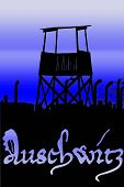 pic of auschwitz  - a watch tower overlooking work camp at auschwitz Poland - JPG