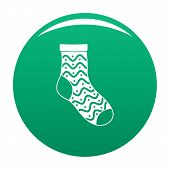 Nice Sock Icon. Simple Illustration Of Nice Sock Icon For Any Design Green poster
