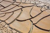 Big Mud Cud Cracks And Dried Mud Tiles In The Death Valley poster