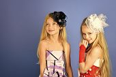 Fashion And Beauty, Little Princess. Friendship, Look, Hairdresser, Wedding. Little Girls In Fashion poster