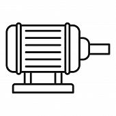 Motor Pump Irrigation Icon. Outline Motor Pump Irrigation Vector Icon For Web Design Isolated On Whi poster