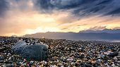 This Photograph Was Taken In Hualien, Taiwan. It Is A Famous Pebble Beach. One Can See Heaps Of Pebb poster