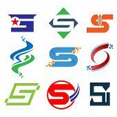 S Letter Logo Vector, S Letter Logo Design Vector Illustration Template, S Letter Logo Vector, Lette poster