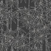 Beautiful Japanese Seamless Pattern. Asian Bamboo Forest, Dark Background. Japanese Bamboo For Conce poster