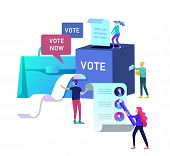 Voting And Election Concept. Pre-election Campaign. Promotion And Advertising Of Candidate. Citizens poster