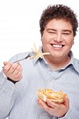 Chubby Man With Pommes Frites
