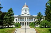 Maine State House Is The State Capitol Of The State Of Maine In Augusta, Maine, Usa. Maine State Hou poster