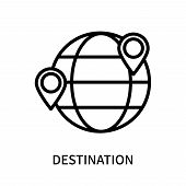 Destination Icon Isolated On White Background. Destination Icon Simple Sign. Destination Icon Trendy poster