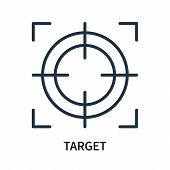 Target Icon Isolated On White Background. Target Icon Simple Sign. Target Icon Trendy And Modern Sym poster