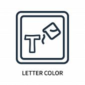 Letter Color Icon Isolated On White Background. Letter Color Icon Simple Sign. Letter Color Icon Tre poster