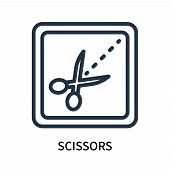 Scissors Icon Isolated On White Background. Scissors Icon Simple Sign. Scissors Icon Trendy And Mode poster