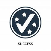 Success Icon Isolated On White Background. Success Icon Simple Sign. Success Icon Trendy And Modern  poster
