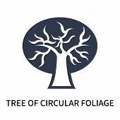 Tree Of Circular Foliage Icon Isolated On White Background. Tree Of Circular Foliage Icon Simple Sig poster