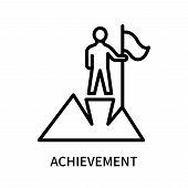 Achievement Icon Isolated On White Background. Achievement Icon Simple Sign. Achievement Icon Trendy poster