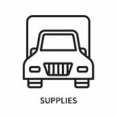 Supplies Icon Isolated On White Background. Supplies Icon Simple Sign. Supplies Icon Trendy And Mode poster