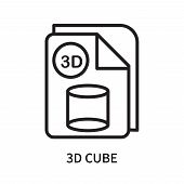 3d Cube Icon Isolated On White Background. 3d Cube Icon Simple Sign. 3d Cube Icon Trendy And Modern  poster