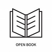 Open Book Icon Isolated On White Background. Open Book Icon Simple Sign. Open Book Icon Trendy And M poster