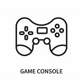 Game Console Icon Isolated On White Background. Game Console Icon Simple Sign. Game Console Icon Tre poster